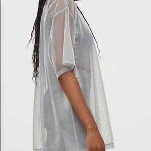 Sheer silver top from H&M